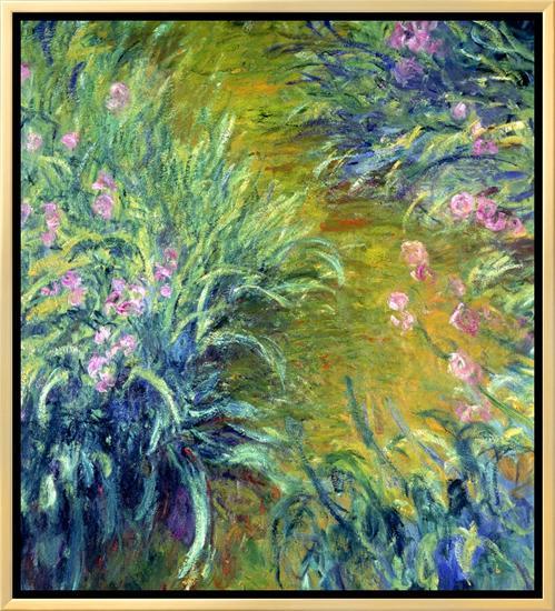 Iris-Claude Monet-Framed Canvas Print