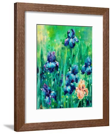 Irises 1-Lena Navarro-Framed Art Print
