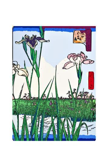Irises a Pond-Ando Hiroshige-Giclee Print