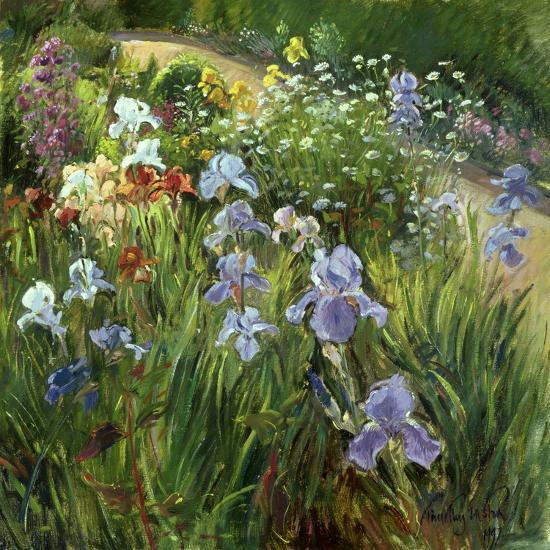Irises and Oxeye Daisies, 1997-Timothy Easton-Giclee Print
