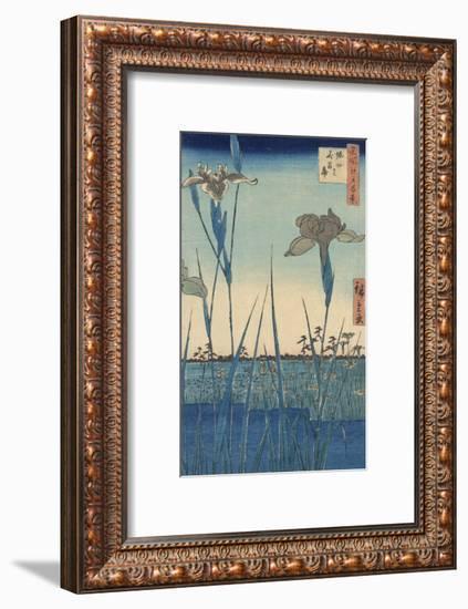 Irises at Horikiri-Ando Hiroshige-Framed Art Print