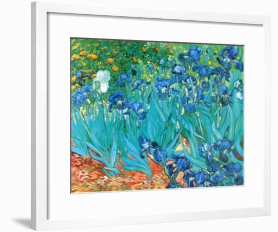 Irises, c.1889-Vincent van Gogh-Framed Art Print