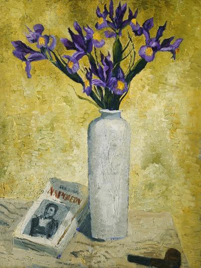 Irises in a Tall Vase, 1928-Christopher Wood-Giclee Print