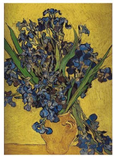 Irises in Vase-Vincent van Gogh-Art Print