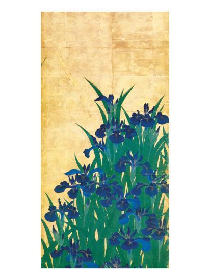 Irises, Japanese-Ogata Korin-Premium Giclee Print