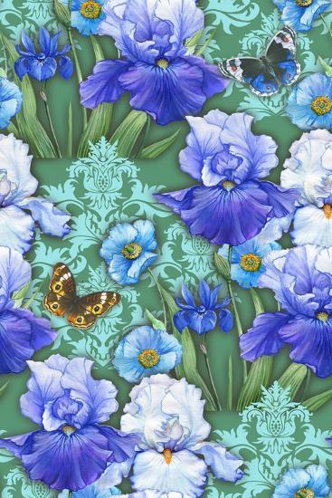 Irises (Pattern)-Maria Rytova-Giclee Print