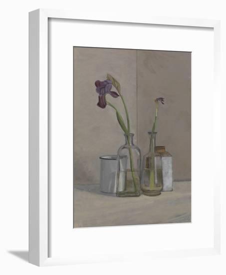 Irises White Cans, 2006-William Packer-Framed Giclee Print