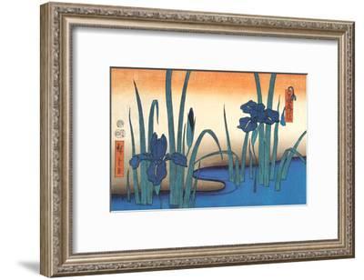 Irises-Utagawa Hiroshige-Framed Art Print
