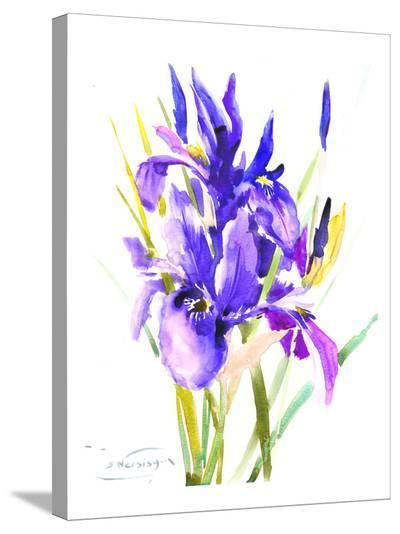 Irises-Suren Nersisyan-Stretched Canvas Print