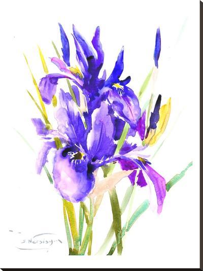 Irises-Suren Nersisyan-Stretched Canvas Print