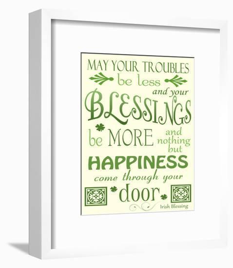 Irish Blessing-Jennifer Nilsson-Framed Giclee Print