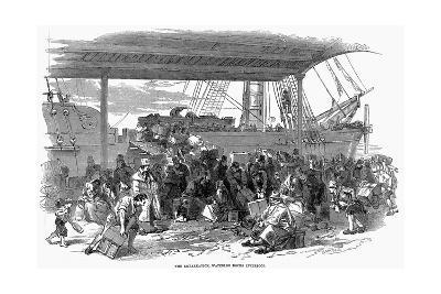 Irish Emigrants Embarking for America at Waterloo Docks, Liverpool, 1850--Giclee Print