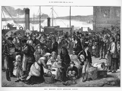 Irish Emigrants Leaving Queenstown (Cob), the Port for Cork, for the United States, 1874--Giclee Print