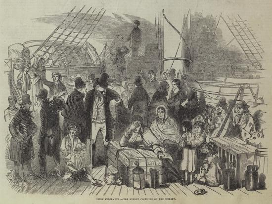 Irish Emigrants, the Recent Collision on the Mersey--Giclee Print