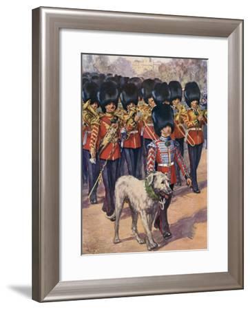 Irish Guards and Mascot-Douglas Macphrson-Framed Giclee Print