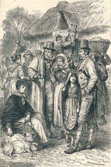 Irish Peasants, 1896--Giclee Print