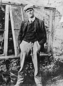 James Joyce in the Garden of His Friend Constantine Curran in Dublin, 1904 by Irish Photographer
