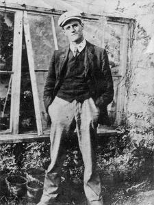 James Joyce in the Garden of His Friend Constantine Curran in Dublin, 1904 by Irish Photographer