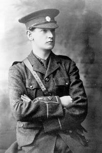 Michael Collins (1890-1922) in the Uniform of the Irish Republican Army, c.1916 by Irish Photographer