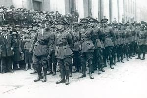 Michael Collins (1890-1922) (Left) as Head of the Irish Free State Army at the Funeral of Arthur… by Irish Photographer