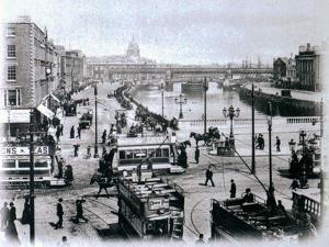 O' Connell Bridge and the River Liffey, Dublin, C.1900 by Irish Photographer
