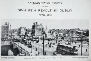 Sackville Street and Eden Quay after the Revolt, from 'An Illustrated Record of the Sinn Fein… by Irish Photographer