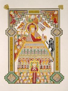 Temptation of Christ, from a Facsimile Copy of the Book of Kells, Published by Day and Son by Irish Photographer