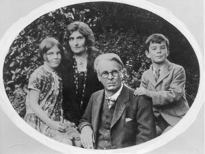 William Butler Yeats (1865-1939) with His Wife Georgie Hyde Lee and Children Anne and Michael by Irish Photographer