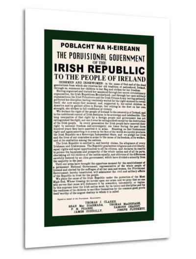 Irish Republic--Metal Print