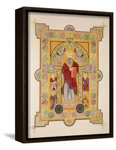 Saint Matthew, from a Facsimile Copy of the Book of Kells, Pub. by Day and Son by Irish School
