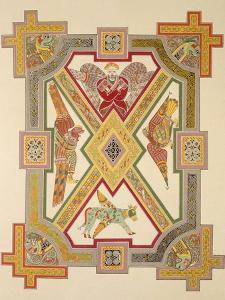 The Four Evangelists, from a Facsimile Copy of the Book of Kells, Pub. by Day and Son by Irish School