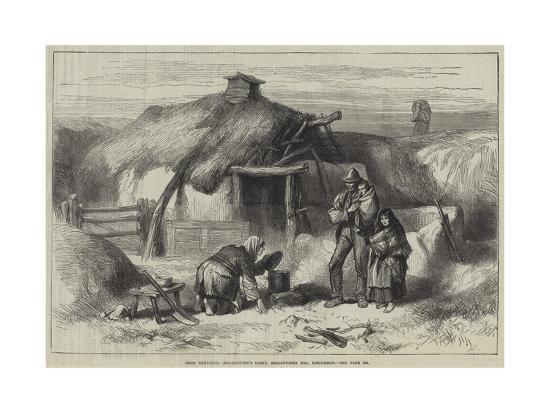 Irish Sketches, Bog-Trotter's Cabin, Ballintober Bog, Roscommon--Giclee Print