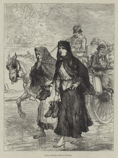Irish Sketches, Going to Chruch-Charles Robinson-Giclee Print