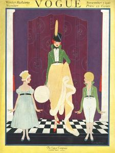 Vogue Cover - November 1916 by Irma Campbell