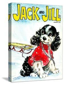 Let's Go Sledding - Jack and Jill, January 1971 by Irma Wilde