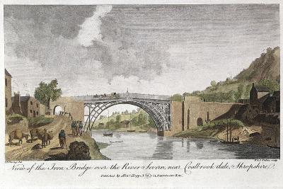 Iron Bridge across the Severn at Ironbridge, Coalbrookdale, England, Built 1779--Giclee Print