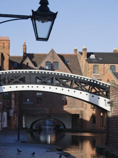 Iron Bridge over Canal, Gas Basin, Birmingham, England, United Kingdom, Europe-Jean Brooks-Photographic Print