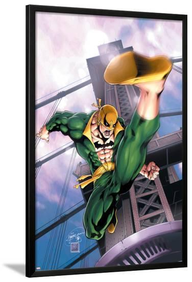 Iron Fist No.2 Cover: Iron Fist-Kevin Lau-Lamina Framed Poster
