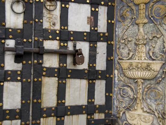 Iron Locked Door, The Kremlin, Moscow, Russia-Cindy Miller Hopkins-Photographic Print