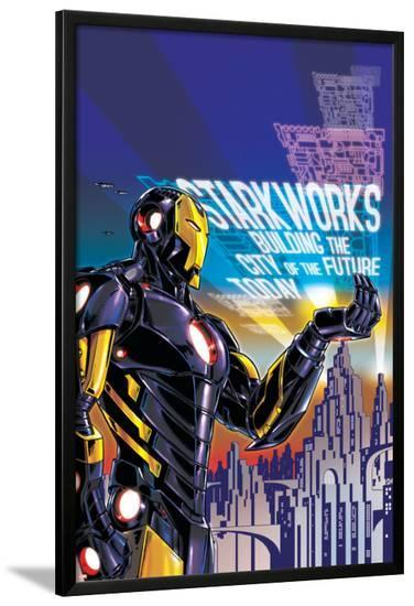 Iron Man #18 Cover Featuring Iron Man-Paul Rivoche-Lamina Framed Poster