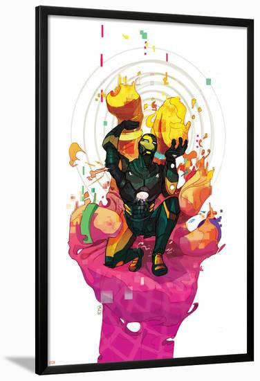 Iron Man #27 Cover Featuring Iron Man-Christian Ward-Lamina Framed Poster