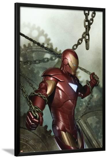 Iron Man: Director Of S.H.I.E.L.D. No.29 Cover: Iron Man--Lamina Framed Poster