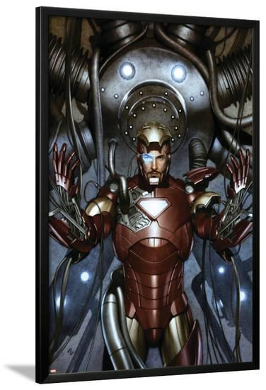 Iron Man: Director Of S.H.I.E.L.D. No.31 Cover: Iron Man-Adi Granov-Lamina Framed Poster