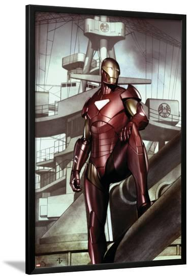 Iron Man: Director Of S.H.I.E.L.D. No.32 Cover: Iron Man-Adi Granov-Lamina Framed Poster