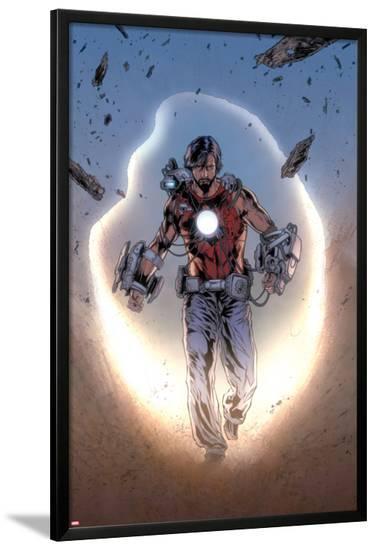 Iron Man Legacy No.8: Tony Stark Walking-Steve Kurth-Lamina Framed Poster