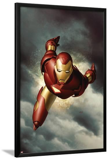 Iron Man No.1 Cover: Iron Man--Lamina Framed Poster