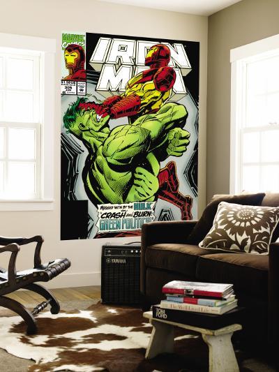 Iron Man No.305 Cover: Iron Man and Hulk Fighting-Kev Hopgood-Wall Mural