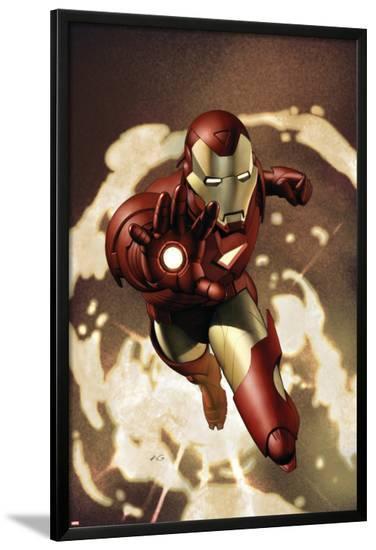 Iron Man No.4 Cover: Iron Man-Adi Granov-Lamina Framed Poster