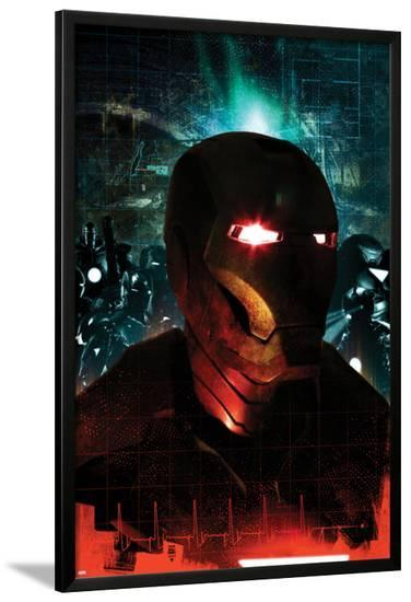 Iron Man: Rapture No.3 Cover: Iron Man Posing-Tim Bradstreet-Lamina Framed Poster