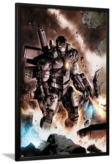 Iron Man: Rapture No.3: War Machine Standing-Lan Medina-Lamina Framed Poster